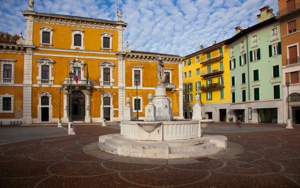 Brescia Italy Piazza del Mercato